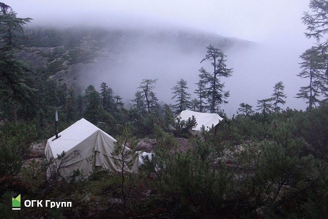 Полевой лагерь геологов. Участок Дикий, Хабаровский край